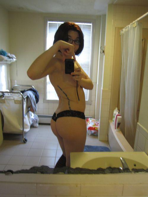 sexy culo allo specchio